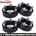 4 2 Inch 6x55 Hub Centric Wheel Spacers For Chevy K1500 Tahoe GMC Sierra 1500