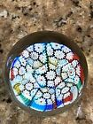 Millefiori Crystal Clear Dome Paperweight Art Glass