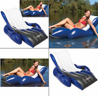 NEW Inflatable Floating Lounge Pool Recliner Lounger Chair With Cup Holders