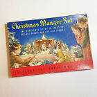 Vintage Christmas Manger Set Nativity Cardboard Cut Out Stand Up 743 Complete