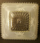 Vtg light fixture Frosted Glass Ceiling Shade Square Art Deco 11 MCM Nouveau