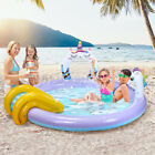76 Kids Inflatable Swimming Pool W Slide Sprayer Summer Water Fun Outdoor Home