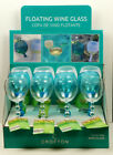 CROFTON Floating Wine Glass Camping Beach Pool Factory Display Case of 12