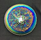 Northwood GRAPE and CABLE CARNIVAL GLASS 9 PLATE AMETHYST PURPLE SPECTACULAR