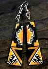 Native American Indian Jewelry Santo Domingo Pueblo Spiny Oyster Inlay Earrings