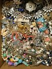 14+LBS LB HUGEVINTAGE NOW ESTATE JEWELRY LOT RHINESTONE GLASS SIGNED FREE SHIP