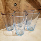 5 IKEA Drinking Glasses Blue Vanlig Ribbed Tumblers Cups Italy 10288 Swanky Barn