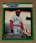 1989 Kenner Starting Lineups Pedro Guerrero Player Card