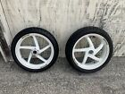 Marchesini Forged Wheels White 17inch Front rear With Tires