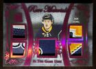 2017-18 Leaf In The Game Used Hockey Rare Materials #RM-10 Jack Eichel #'d 4
