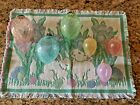 6 Pastel Crackle Glass Easter Egg Oval Ornaments 3 4 3 2 3 4  Bunny Mat