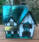 THE OLD JACKSON FARMHOUSE STAINED GLASS VINTAGE NIGHT LIGHT CREATIVE CRAFTSMAN
