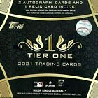 2021 TOPPS TIER ONE BASEBALL HOBBY BOX FREE PRIORITY MAIL SHIPPING!!
