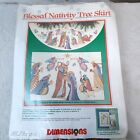 Dimensions BLESSED NATIVITY Tree Skirt Kit 8379 Counted Cross Stitch Christmas