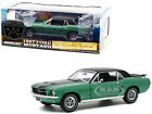 1967 FORD MUSTANG GREEN MET  BLACK W SKIS 1 18 DIECAST MODEL GREENLIGHT 13575