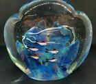 Vintage Fish Aquarium Art Glass Sculpture Murano 8 x 75 10 lbs