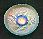 Northwood GRAPE  CABLE Ice BLUE Carnival Glass Small Ice Cream Shape Bowl