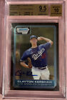 2006 Bowman Chrome Draft Clayton Kershaw Auto RC BGS 9.5 Gem Mint BGS 10 Auto!🔥