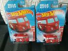Hot Wheels 2021 Target Red Edition Hello Kitty Kool Kombi Lot Of 2 New Vhtf