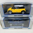 Welly Mini Cooper Yellow  Blue 118 Scale Die Cast Lot Model Coupe Car
