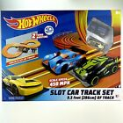 Hot Wheels Slot Car Track Set 83105 Turbo Booster 93 Feet Two Cars New