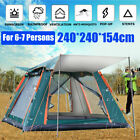6 7 People Automatic Waterproof Outdoor Instant Pop up Tent Windproof UV Camping