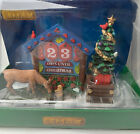 Lemax Countdown Days To Christmas Village Table Accent #93436 Tree Reindeer