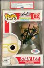Stan Lee Signed Convention Exclusive Slabbed Funko POP #02 PSA X79931