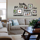 Family Photo Frame Picture Home Hanging Wall Collage Decor Sticker Bedroom Art