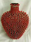 VINTAGE HEART SHAPED GLASS VASE SO UNIQUE ONE OF A KIND LARGE 8 1 2STUNNING