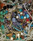 12+LBS LB HUGEVINTAGE NOW ESTATE JEWELRY LOT RHINESTONE GLASS SIGNED FREE SHIP