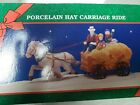 Lemax Christmas Village Hay Carriage Ride Porcelain Christmas Village Accessory