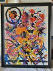 Hendrik Grise Abstact Expressionism Signed 20 x 265 Framed with Museum Glass