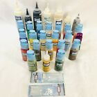 Gallery Glass Window Color Lot of 28 Plaid Paint Some New Some Opened Partial