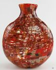 Lovely 2008 Robin Mix Twin Farms Warm Colored Art Glass Vase