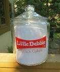 RARE VINTAGE LITTLE DEBBIE SNACK CAKES CONTAINER COOKIE JAR CLEAR GLASS