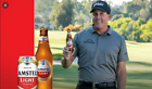 PHIL MICKELSON Amstel LIMITED EDITION PROMO Pint glass Golf NEW RARE