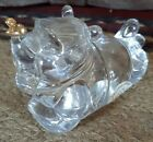 Lenox Crystal Disney Winnie The Pooh laying w Gold Butterfly Glass Figure Rare