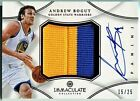 Andrew Bogut 2012-13 Panini Immaculate Collection Premium Patch Red Auto 15 25