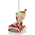 Precious Moments 211014 Christmas Is Coming Enjoy The Ride Annual Elf Ornament