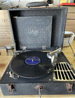 Vintage Portable Hand Crank Wind Up Phonograph Record Player 78rpm Tested