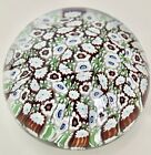 Magnificent Murano Glass Murrini Paperweight Italy Certification Label 3W