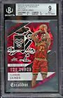 2015 Panini Excalibur Knights Of The Round Die Cut LeBron James 14 BGS 9 MINT