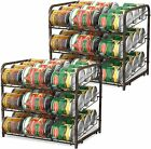 2 Pack Can Food Organizer Storage 72 Cans Holder Kitchen Cabinet Pantry Rack