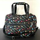 Tupperware Consultant Carry On Luggage Weekend Bag Zippered Black w Logos