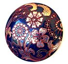 Huge and GorgeousBlack Glass Button with Red and Silver Trim115 16