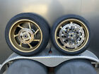 Kawasaki Zx10rr Marchesini Forged Front  Rear Wheels With Rotors GOLD Like New