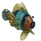 Large Murano Style Art Glass Fish Multi Color Hand Blown
