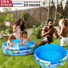 Round Baby Kids Swimming Pool Inflatable Toddler Water Play Summer Outdoor US