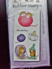 HOUSE MOUSE Designs Rubber Stamps MICE CRAFTY KNITTING Unmounted Stamps SET